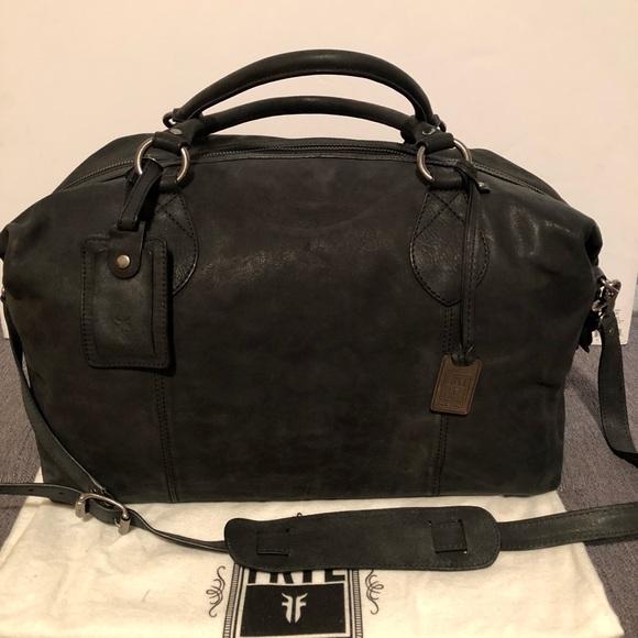 566923418dc NWT Frye Logan Overnight Duffel Leather Bag